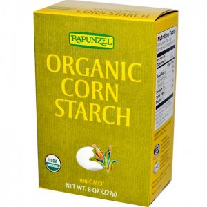 Box of Corn Starch for dry shampoo