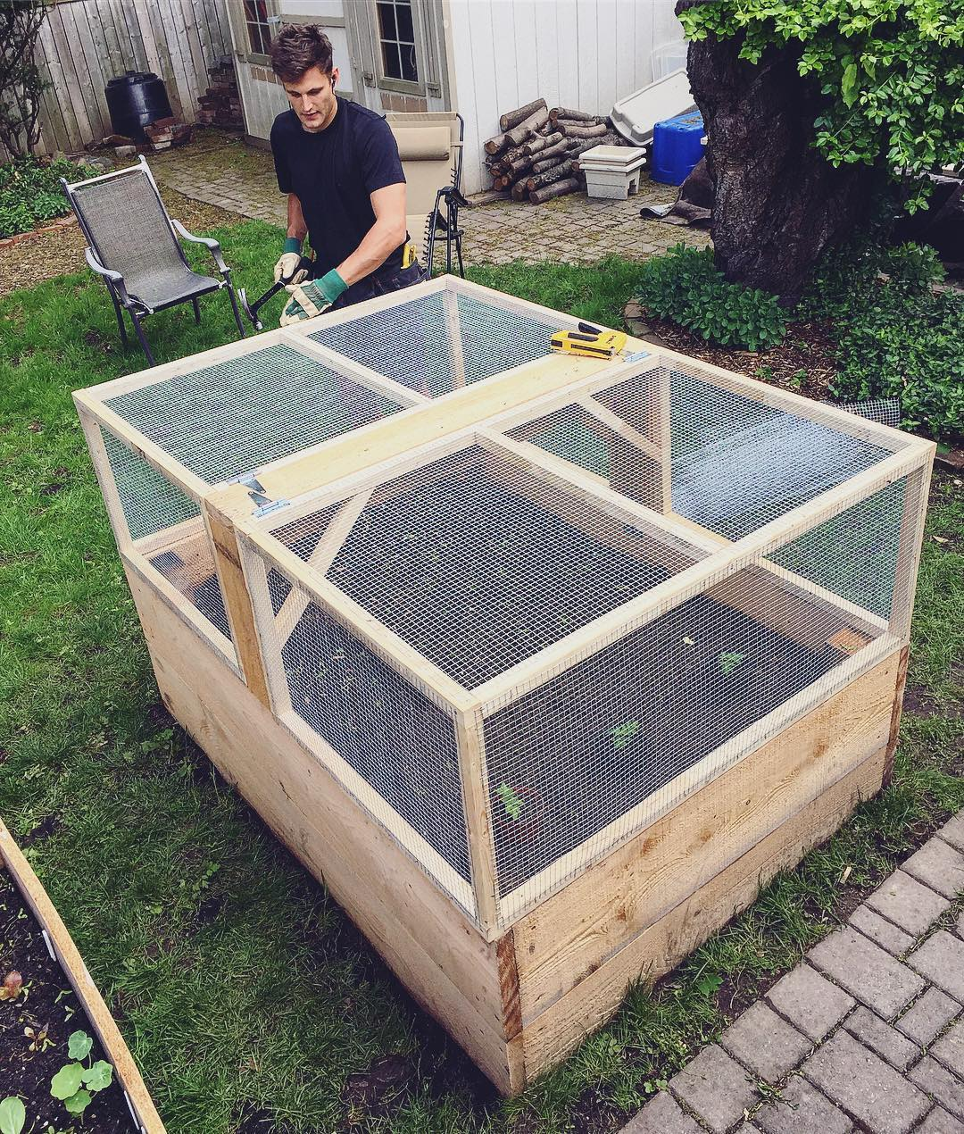 IG: Our Enclosed Raised Bed Is Looking KICKASS! Now Just